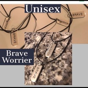 Engraved Word Charms Necklaces
